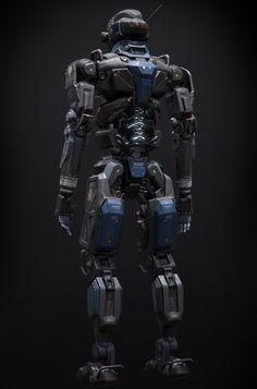 Humanoid Robot Project by Alan Van Ryzin Drones, Character Concept, Character Design, Humanoid Robot, Arte Robot, Cool Robots, Sci Fi Armor, Robot Concept Art, Futuristic Art