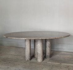70ties Marble table by Angelo Mangiarotti