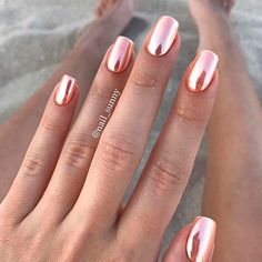 Prettiest Rose Gold Nails Designs You Should Try Out ★ See more: https://naildesignsjournal.com/rose-gold-nails/ #nails
