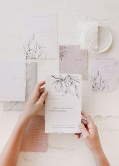 minimal and fine art wedding invitation