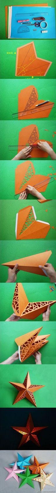 DIY paper star nightlight! - idea for night-light for baby's room