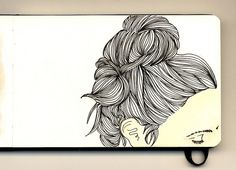 gorgeous moleskine illustrations by firstladypatate #illustrations #firstladypatate #hair