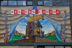 Theatre mural, Kamloops, BC