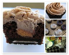Peanutbutter cups,Oreos,and Chocolate (In a cupcake) ~ OH MY!