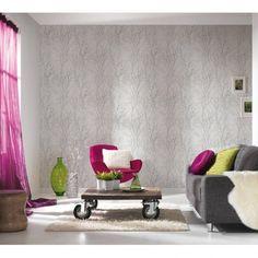 AS Creation Forest Pattern Wood Tree Metallic Pearl Motif Embossed Wallpaper 300941