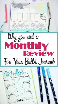 Bullet journal monthly review- is this a bujo layout you need to start using? Yes! This amazing and inspirational bullet journal spread will help you improve your life and optimize your bullet journal so it's better than ever! Learn how to start a bullet journal monthly review today. #bulletjournal #bujo #monthlyreview #timemanagement