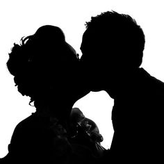 The silhouette kiss.. by Sylka Fotografie