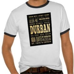 Durban City South Africa Typography Art Shirt