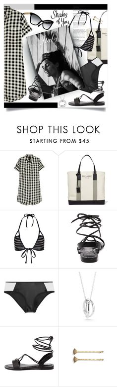 """""""Memories in black and white"""" by laste-co ❤ liked on Polyvore featuring Madewell, Yves Saint Laurent, Vitamin A, Duskii, Elizabeth and James and Marc Jacobs"""