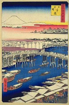 The 100 Views of Edo by Hiroshige on this site:http://www.hiroshige.org.uk/hiroshige/100_views_edo/100_views_edo.htm