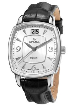 Price:$466.39 #watches Grovana 1719.1532, Grovana is a firm that has made a name for itself in the Swiss watch making industry through innovation and flexibility. Up to the 1970s it made mechanical watches that were always state of the art.