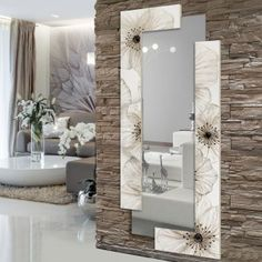 Awesome ideas for decorating the hallway with modern wall mirror designs, home interior wall mirror decor ideas for modern style apartments 2019 Interior Walls, Home Interior Design, Stone Interior, Spiegel Design, Ceiling Design, Entryway Decor, Wall Decor, Wall Art, Living Room Designs