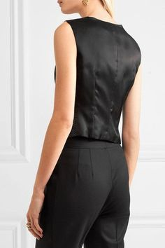 Dolce & Gabbana - Polka-dot Wool And Satin Vest - Black - IT36