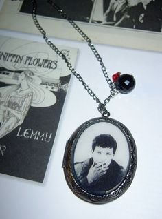 Ian Curtis locket necklace, by Die Young, Stay Pretty #dieyoungstaypretty #iancurtis #joydivision