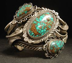 Vintage Navajo Jewelry Hallmarks | Vintage Jewelry and Hallmarks | Sterling Silver and Turquoise Bracelet ...