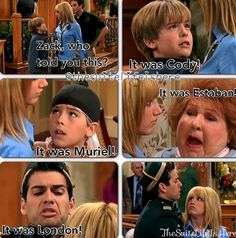 Suite Life of Zack and Cody Hotel Zack Und Cody, Zack Y Cody, Funny Disney Memes, Disney Cartoons, Nickelodeon Cartoons, Old Tv Shows, Kids Shows, Disney Love, Disney Magic
