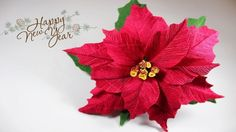 Christmas flower of corrugated paper Poinsettia Flower, Christmas Poinsettia, Christmas Diy, Crepe Paper Crafts, Crepe Paper Flowers, Clay Christmas Decorations, Polymer Clay Christmas, Paper Flower Tutorial, Handmade Flowers
