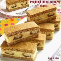 Romanian Desserts, Romanian Food, Cookie Recipes, Dessert Recipes, Croatian Recipes, Mini Cheesecakes, Homemade Cookies, No Bake Cake, Sweet Recipes