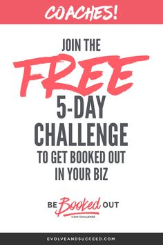 Calling all business coaches, health coaches, life coaches, etc....Spending too much time looking for your next client? STOP! Take this 5 day challenge and get booked out for MONTHS! Tried and true, click through for testimonials!