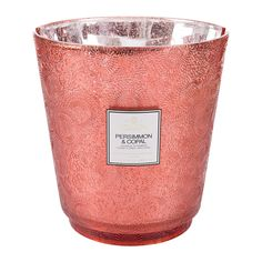 Buy Voluspa Japonica Hearth Large Candle - 3.5kg!! - Persimmon & Copal | Amara    #massivecandles #largecandles Large Candles, Open Spaces, Glass Holders, Red Glass, Fireplaces, Hearth, Scented Candles, Wax, Coconut