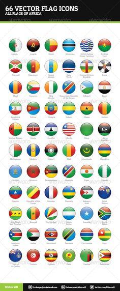 African Flags Vector  #GraphicRiver         African Flags Vector – Web Icons  African Flags Vector are a pack of 66 national flags icons.  Icon pack includes these nations:   Algeria, Angola, Benin, Botswana, Burkina Faso, Burundi, Cameroon, Cape Verde, Central African Republic, Chad, Comoros, Côte d'Ivoire, Democratic Republic of the Congo, Djibouti, Egypt, Equatorial Guinea, Eritrea, Ethiopia, Gabon, Gambia, Ghana, Guinea, Guinea-Bissau, Kenya, Lesotho, Liberia, Libya, Madagascar, Malawi…
