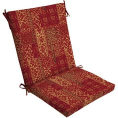 $19.00   Mainstays Outdoor Dining Chair Cushion - Red and Gold Patchwork  Walmart.com  FOR Adirondack CHAIR AT FIREPIT