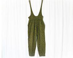 Vintage 90s Suspender Jumpsuit M Baggy Hip Hop Pants - PopFizzVintage