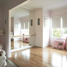 Kids Design - great mirror and ballet bar...forget the kids. I want this for me in my room.