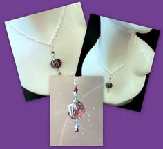 "Necklace Pendant -  ""Amethyst  and Aquamarine Jewel"" by DancingRainbows, $13.00 USD"