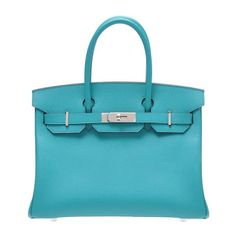 c7a091a376e3 New color for 2012 - Blie Paon Birkin in Epsom w  phw. Almost lagoon ish