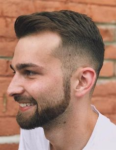 Crew Cut With Facial Hairstyle frisuren, 50 Classy Haircuts and Hairstyles for Balding Men Crew Cuts, Haircuts For Balding Men, Men's Haircuts, Mens Haircuts Receding Hairline, Buzz Haircut, Long Hair On Top, Bald Men, Trending Haircuts, Popular Haircuts