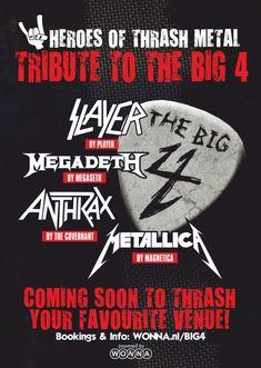 Heavy Metal Rock, Thrash Metal, Metallica, Festivals, Movie Posters, Megadeth, Film Poster, Concerts, Film Posters