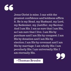 """I am His"" by Thomas Brooks"