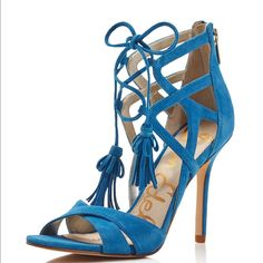749c12d034cbe2 Sam Edelman Aimes Strappy Suede Tasseled High Heel Sandals - Exclusive Shoes  - All Shoes - Bloomingdale's