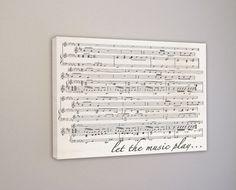 Music Gift  Sheet Music Notes Wall Art First Dance by RockinCanvas