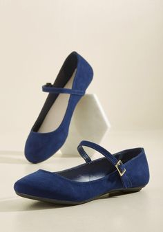 Classy in a Flash Flat in Navy, #ModCloth