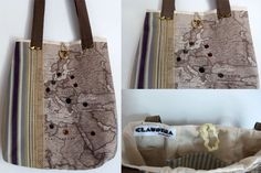 Bag in cotton from, for who loves journey,  http//claudinacreations.wordpress.com