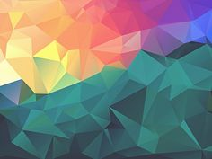 Low-Poly Polygonal Texture | Freebies PSD
