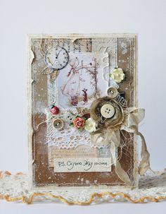 """Vintage Cafe Card Challenge: Задание # 14 """"С любовью от..."""""""