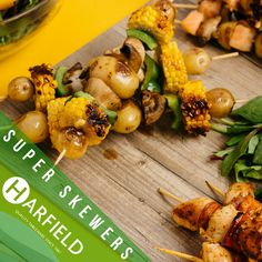 Super Skewers  Get the BBQ out today, it's Tuesday! Harfield tableware have the perfect solutions to get you out in the garden. Visit www.harfieldtableware.co.uk today and get the #partystarted !  #summerfun #bbq #skewers #tableware #garden #dining #food