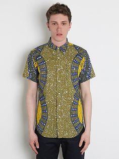 Reminds me of the Burberry ikat print shirts. Like how the print panels at  the side seams. 4ed4f48a5c