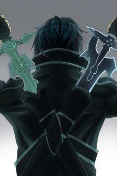 Sword art online kirito duel swords