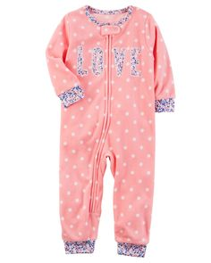 Baby & Toddler Clothing Sweet-Tempered Carters Girls Nightgown Christmas Size Medium Pink Red Polka Dot Ideal Gift For All Occasions
