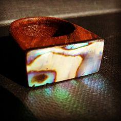 Handmade #wooden #ring #ceviz # sedef organik yüzük