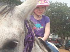Aeris and her #pony need a #newsaddle! Photo submitted by Kim Morales. #barnbuddies #horseriding #horseback #horses