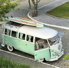 """Finished in orange and white paint with a """"salt and pepper"""" interior, this 1965 Volkswagen started life as a bus a… Volkswagen Bus, Vw T1, Vw Caravan, Vw Camper, Campers, My Dream Car, Dream Cars, Combi Hippie, Carros Retro"""