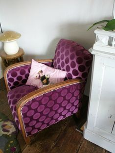 Joli fauteuil rénové (Blog Bliss cocotte)