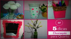 DIY │ 5 dicas decoração para quarto GASTANDO POUCO(room decor) - Cristiane…
