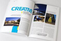 Architecture magazine template on Behance
