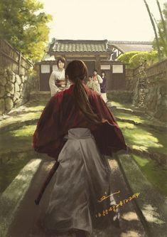 rurouni kenshin - I'm home. by deepred-evie